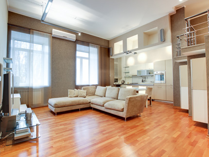 Трехкомнатная двухуровневая квартира на короткий срок на Фонтанке 50