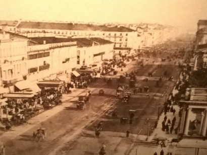 Petrograd. View of the Nevsky prospect. The beginning of the XX century