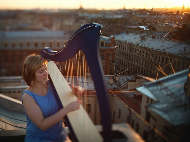 Мелодии арфы от Ольги Максимовой в оранжерее Таврического сада