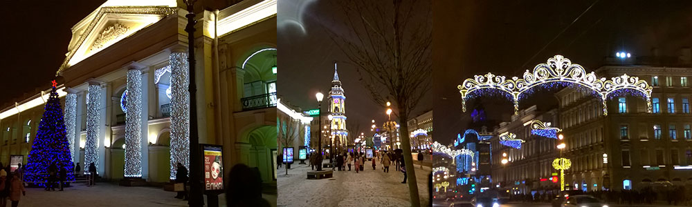 new year collage of St. Petersburg