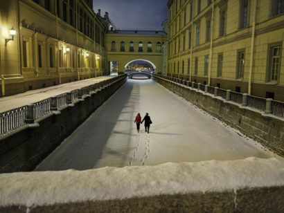 romantic Winter in St. Petersburg