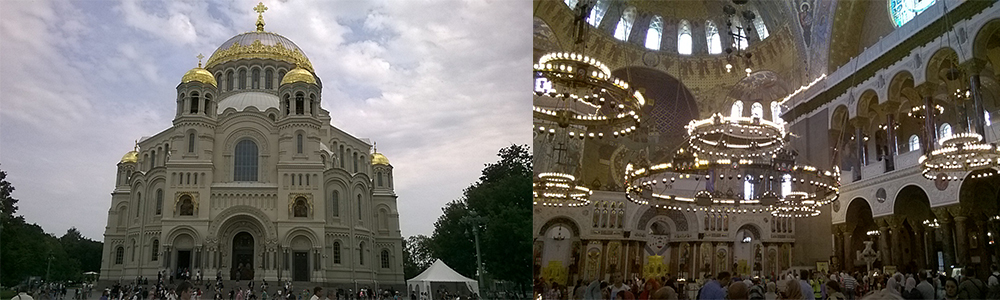 Navy Day - Naval Cathedral of Saint Nicholas in Kronstadt