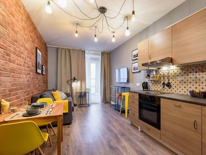 Квартира — студия Лофт посуточно в Санкт-Петербурге