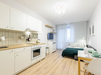 Квартира — студия Сканди посуточно в Санкт-Петербурге